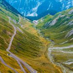 Famous Stelvio Mountain Pass in the Italy. Summer Landscape.